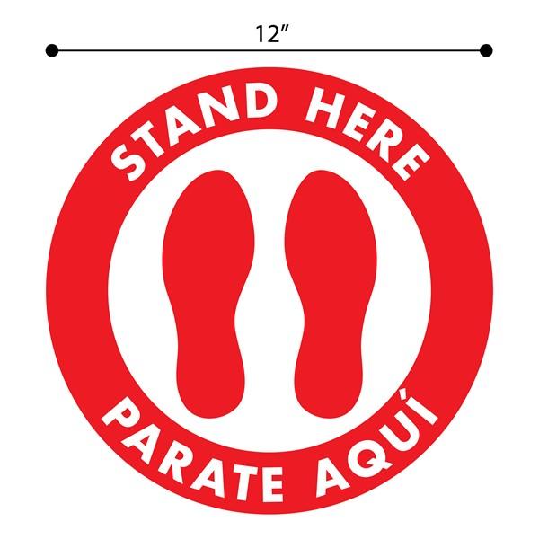 Stand Here Feet Sticker