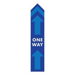 One Way Arrow Sticker