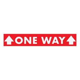 One Way w/ Arrows Sticker