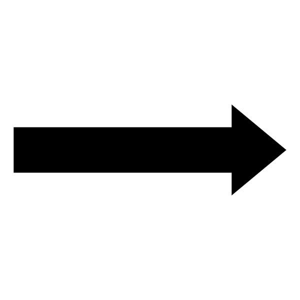Black Line Arrow Sticker