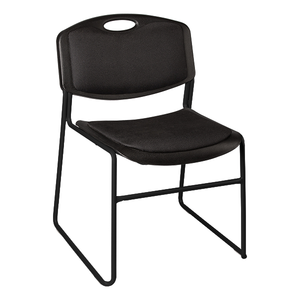 Heavy Duty Plastic Stacking Chair W/ Padded Seat U0026 Back