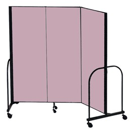"6\' 8"" H Freestanding Portable Partition - 3 Panels (5\' 9\"" L)"