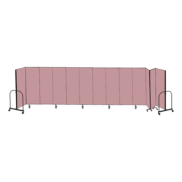 """7' 4"""" H Freestanding Portable Partition - 13 Panels (24' 1"""" L)"""