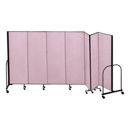 """6\' H Freestanding Portable Partitions - 7 Panels (13\' 1\"""" L)"""