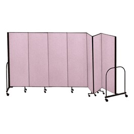 "6\' 8"" H Freestanding Portable Partition - 7 Panels (13\' 1\"" L)"