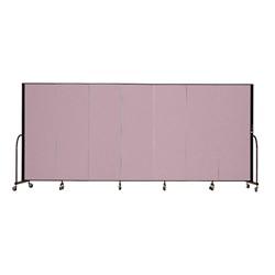 """7' 4"""" H Freestanding Portable Partition - 7 Panels (13' 1"""" L)"""