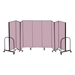 "6' H Freestanding Portable Partitions - 9 Panels (16' 9"" L)"
