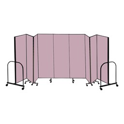 "8' H Freestanding Portable Partition - 9 Panels (16' 9"" L)"