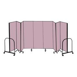 "6\' 8"" H Freestanding Portable Partition - 9 Panels (16\' 9\"" L)"