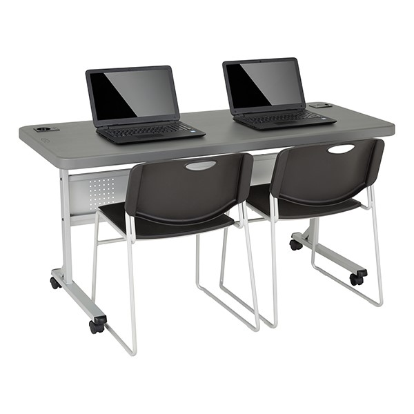 Blow-Molded Nesting Table & Heavy-Duty Stack Chair Set