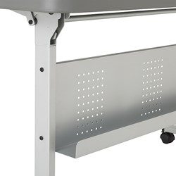 Flip & Store Blow-Molded Nesting Table - Wire Management