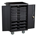 Structure Series 24-Device Tablet Charging Cart - Black