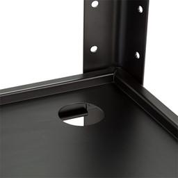 Adjustable-Height Metal AV Cart w/ Electric - Cord Management
