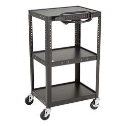Adjustable-Height Metal AV Cart w/ Electric
