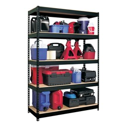 "Extra Heavy-Duty 3800LB Shelving w/ Five Shelves (72"" H x 48"" W x18"" D)"