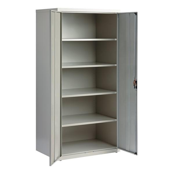 Tall Steel Storage Cabinet - Gray