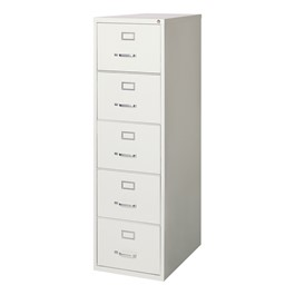 Vertical File Cabinet w/ Five Drawers - Legal Size - Gray