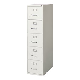 Vertical File Cabinet w/ Five Drawers - Letter Size - Gray