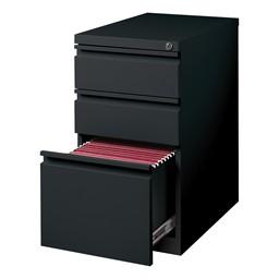 Three-Drawer Mobile Pedestal Cabinet - Black