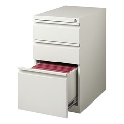 Three-Drawer Mobile Pedestal Cabinet - Gray