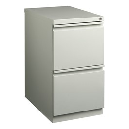 """Two-Drawer Mobile Pedestal Cabinet (23\"""" D) - Gray"""