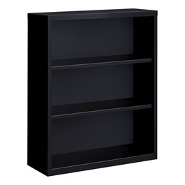 "Metal Bookcase (42"" H) - Black"