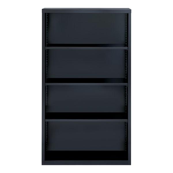"Metal Bookcase (60"" H) - Black"