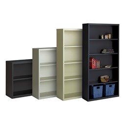 Metal Bookcase - Size & Color Options