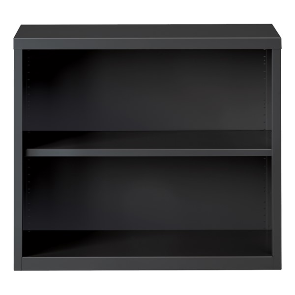 """Metal Bookcase (30"""" H) - Charcoal"""