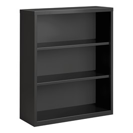 """Metal Bookcase (42\"""" H) - Charcoal"""
