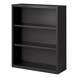"""Metal Bookcase (42"""" H) - Charcoal"""