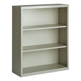 "Metal Bookcase (42"" H) - Gray"