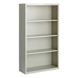 "Metal Bookcase (60"" H) - Gray"
