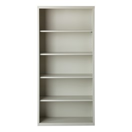 "Metal Bookcase (72"" H) - Gray"