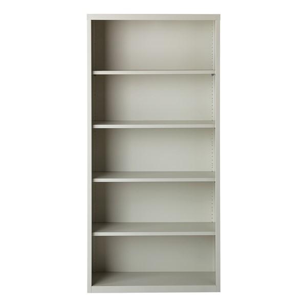 "Metal Bookcase (72"" H) - Gray"