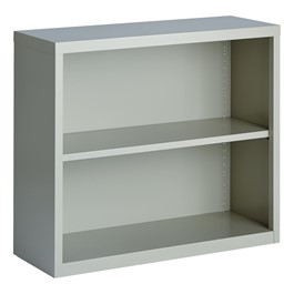 "Metal Bookcase (30\"" H) - Gray"