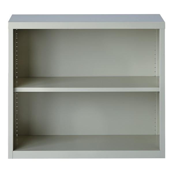 "Metal Bookcase (30"" H) - Gray"
