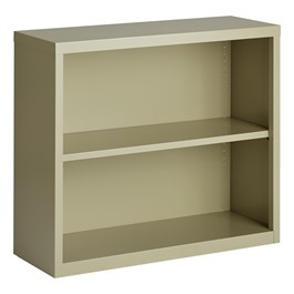 "Metal Bookcase (30"" H) - Putty"