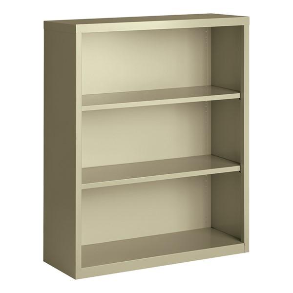 "Metal Bookcase (42"" H) - Putty"