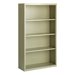 "Metal Bookcase (60"" H) - Gray"
