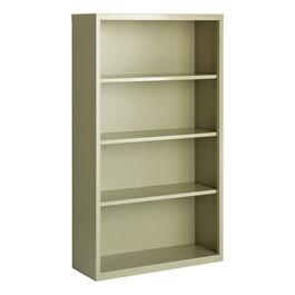 "Metal Bookcase (60\"" H) - Putty"