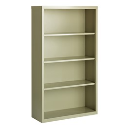 "Metal Bookcase (60"" H) - Putty"