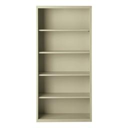 "Metal Bookcase (72"" H) - Putty"