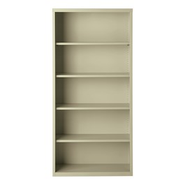 "Metal Bookcase (72"" H) - Putty"