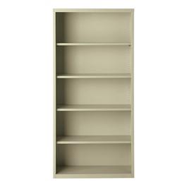 "Metal Bookcase (72\"" H) - Putty"