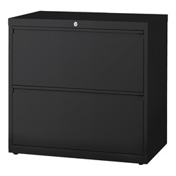 Lateral File Cabinet w/ Two Drawers - Black