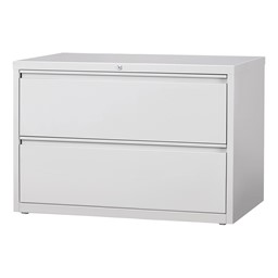 Lateral File Cabinet w/ Two Drawers - Gray