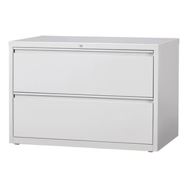 "Lateral File Cabinet w/ Two Drawers (42"" W) - Gray"
