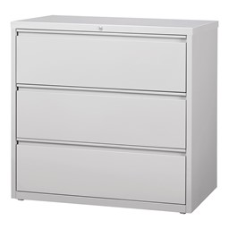 Lateral File Cabinet w/ Three Drawers - Gray
