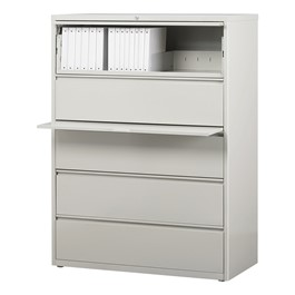 Lateral File Cabinet w/ Five Drawers-4hown  C Open